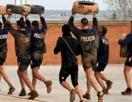 Police physical training