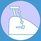 Distance pedal-seat minimum: 44cm