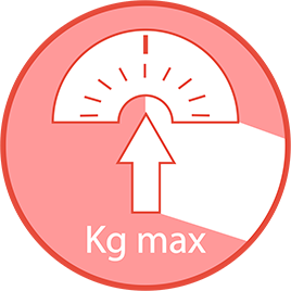 Maximum recommended user weight: 130Kg