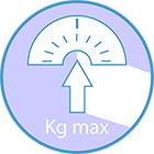Recommended maximum user weight: 264 lbs.