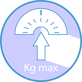 Maximum recommended user weight: 286 lbs.