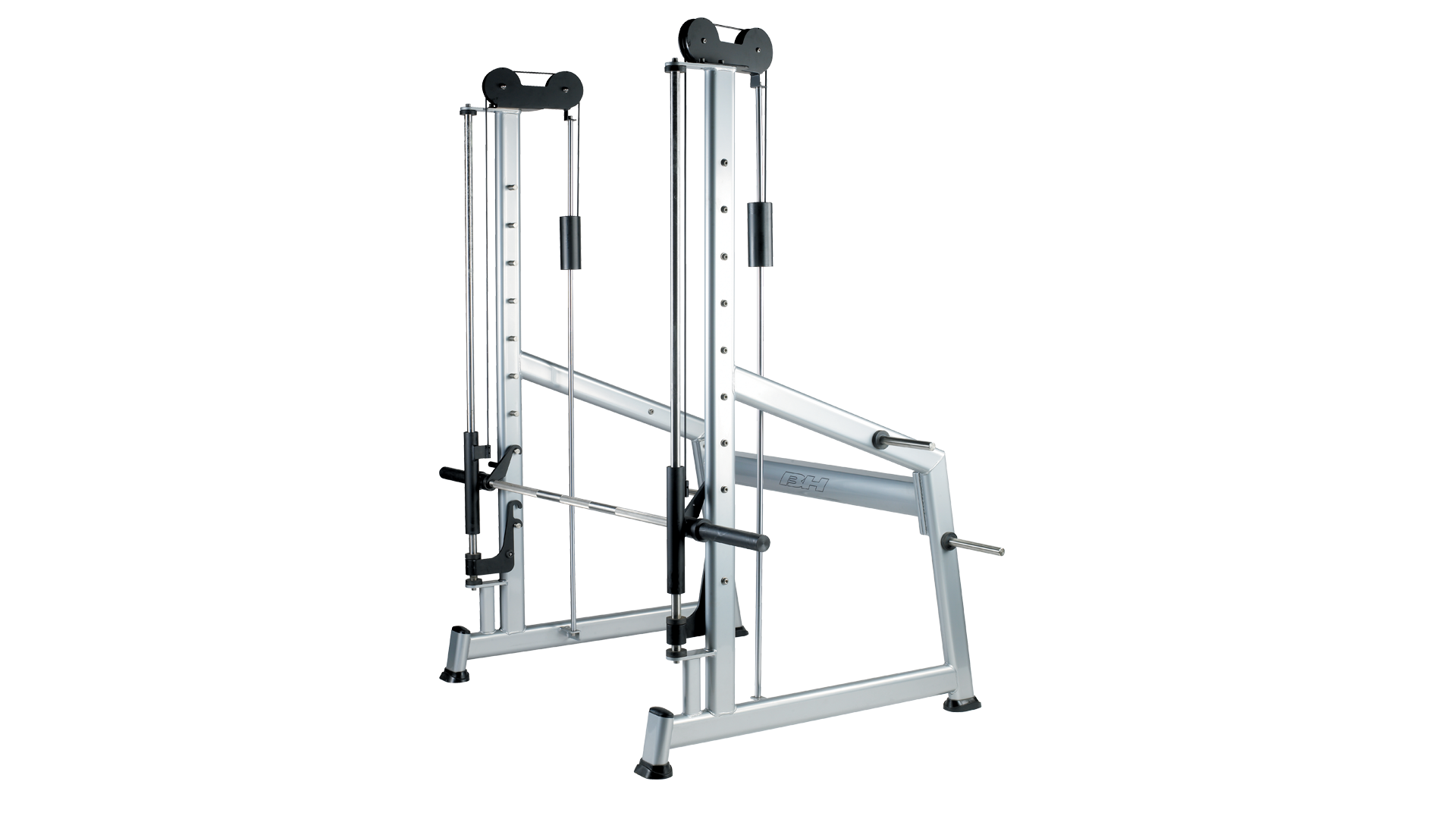 Multipress with counterbalance and tempered bar for olympic plates